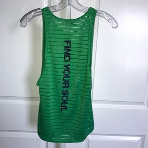 Soul Cycle Find Your Soul Brooklyn Tank Top Green